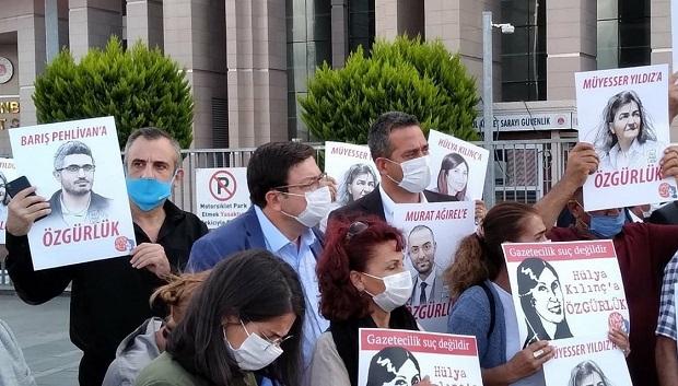 Muharrem Erkek Tutuklu Gazetecileri Yalnız Bırakmadı