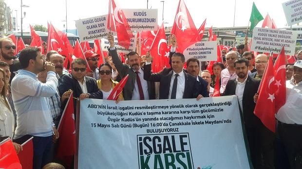 Çanakkale'de İsrail Protestosu