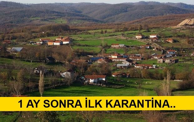 Yenice'de 1 Köy Karantinaya Alındı..