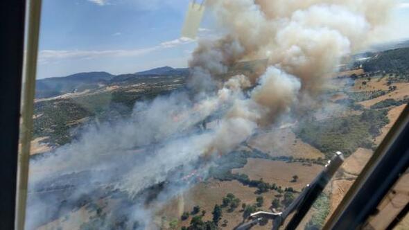 Çanakkale'de İki İlçede Yangın