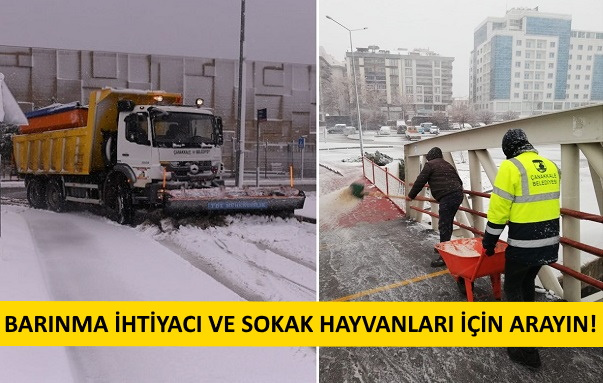Belediye Ekipleri Teyakkuzda..