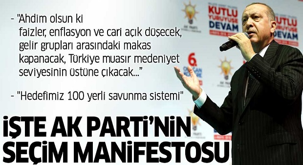 AK Parti'nin Seçim Manifestosunda Neler Var?