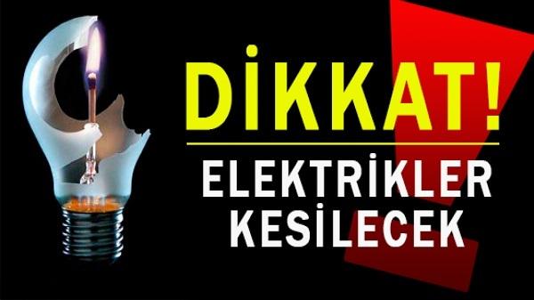 Dikkat: Elektrik Kesintisi