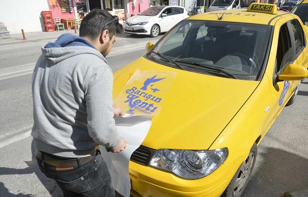 """""""Barışın Kenti Çanakkale'nin Taksileri"""" Hizmetinizde.."""