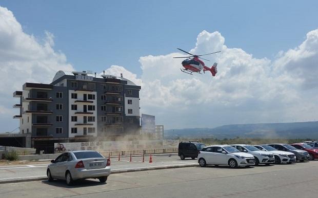 Ambulans Helikopter Pisti Faaliyete Geçti