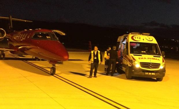 20 Aylık Bebek Uçak Ambulansla Ankara'ya Sevk Edildi