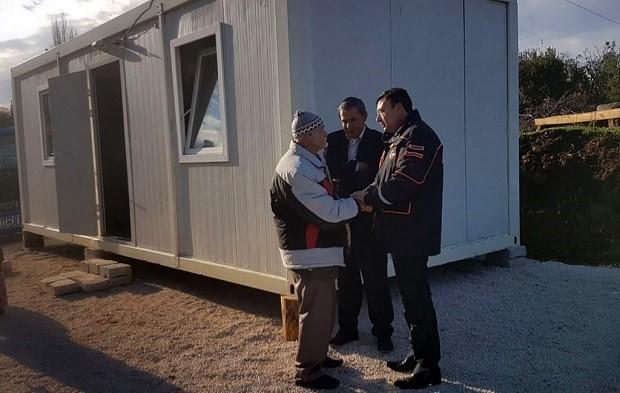 AFAD'tan Evi Yanan Yaşlı Çifte Yardım Eli