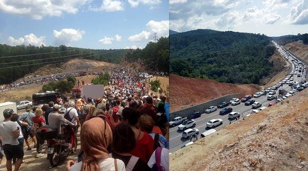 Çan-Çanakkale Karayolu Böyle Kalabalık Görmedi!