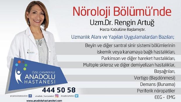 Nöroloji Uzmanı Dr.Rengin Artuğ Anadolu Hastanesinde..