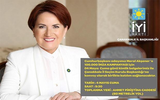 "İYİ Partililerden ""100 Bin İmza"" Konvoyu"