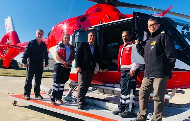 Gökçeadalı Hastaları Hava Ambulansı Taşıdı