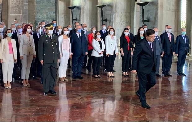 CHP Heyeti Kurultay Öncesi Anıtkabir'i Ziyaret Etti