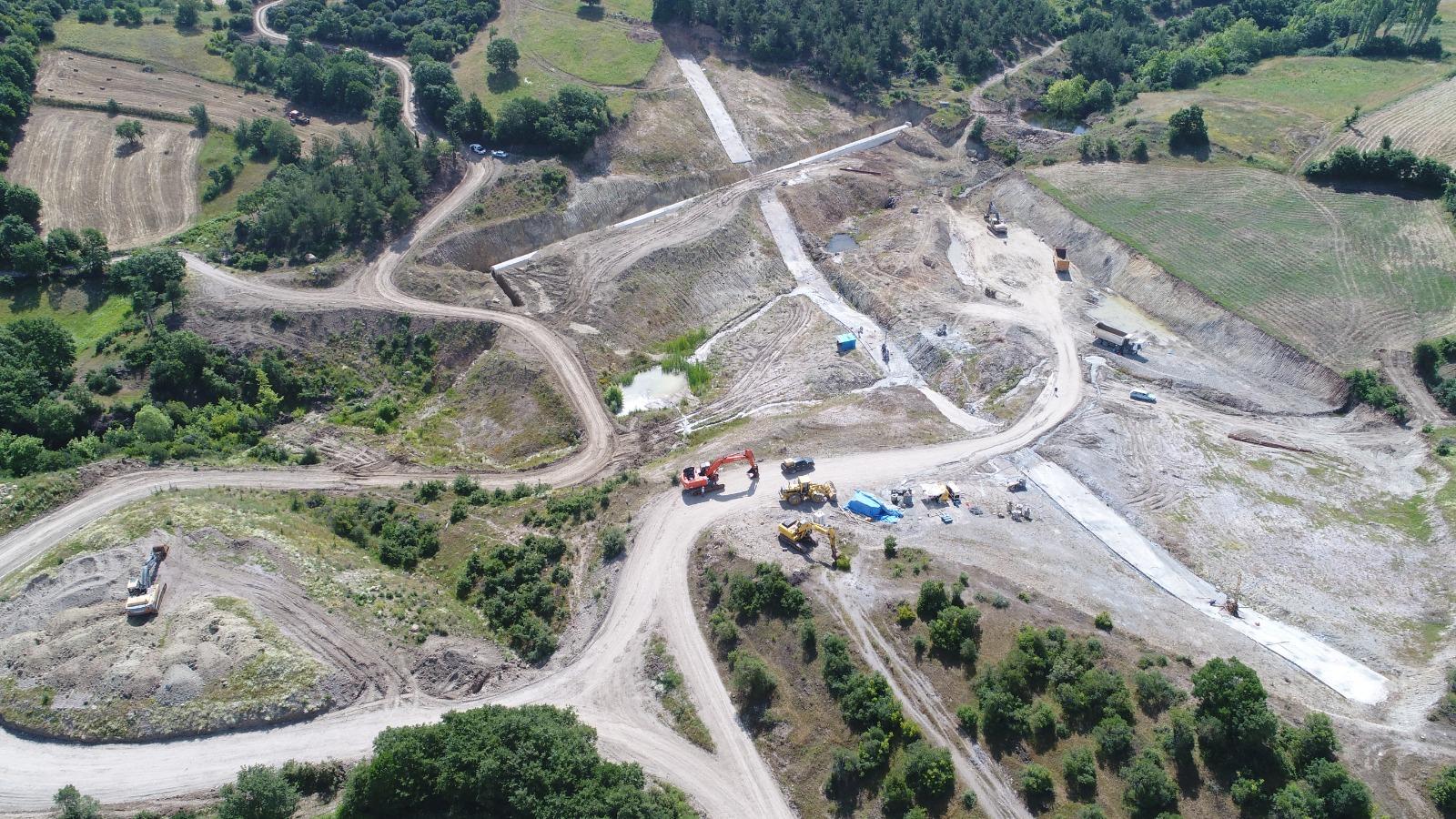 Yenice Kovancı Barajında Çalışmalar Sürüyor
