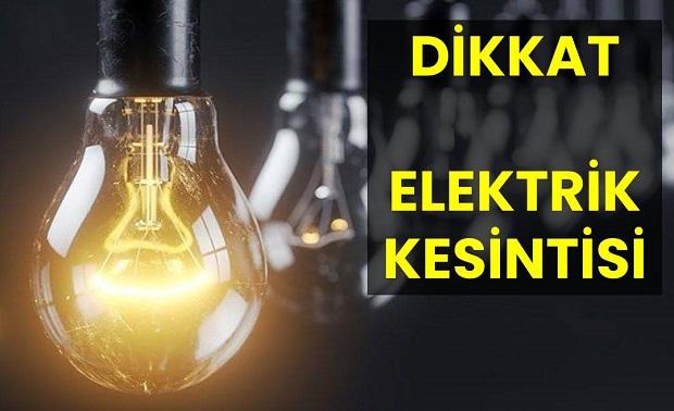 Bu Gece 3 Saat Elektrik Olmayacak!