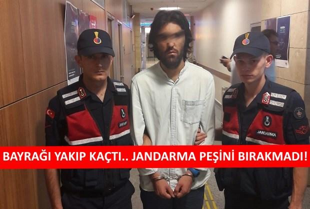 Türk Bayrağını Yakan Şahıs Ankara'da Yakalandı!