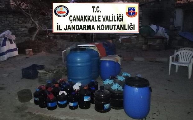 Çanakkale'de 11 Bin 623 Litre Kaçak Şarap Ele Geçirildi
