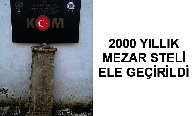 Lapseki'de 2000 Yıllık Tarihi Eser Ele Geçirildi..
