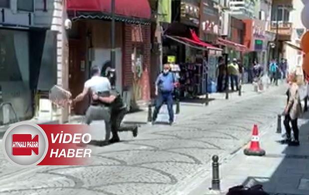 Yalı Caddesinde Bıçaklı Kavga: 1 Yaralı