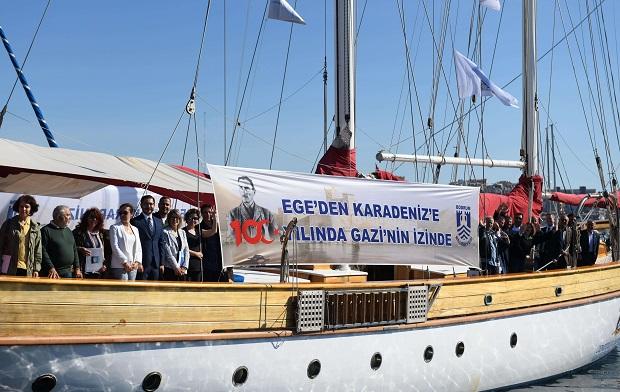 STS Bodrum Gemisi Çanakkale'den Uğurlandı
