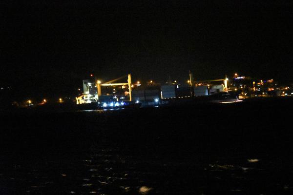 Konteynır Gemisi Boğaz'dan Geçişte Arızalandı