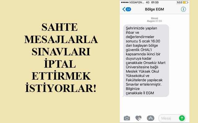 """Sınavlar İptal Edilsin Diye """"Canlı Bomba İhbarı"""" Mı Yapıldı?"""