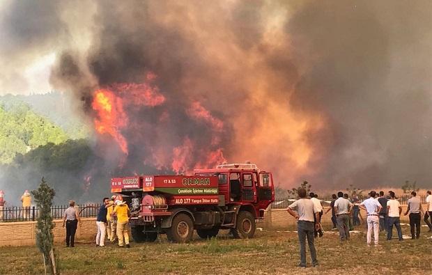 52 Yangında 222 Hektar Orman Yandı