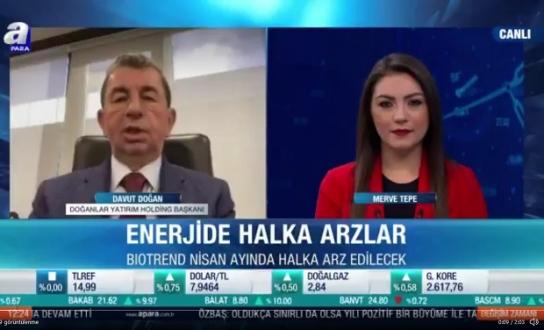 """Davut Doğan: """"Enerji'de Halka Açılacağız"""""""