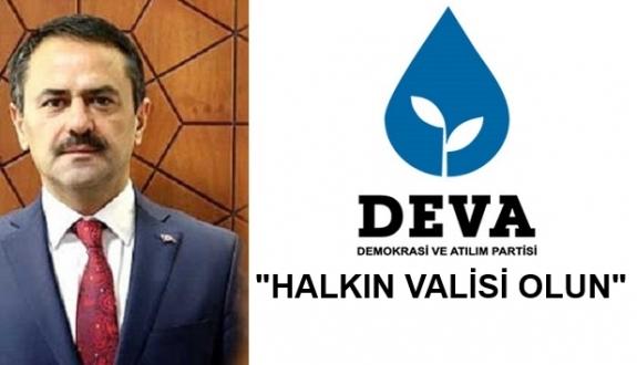 DEVA Partisi'nden Çanakkale Valisine Sitemi..