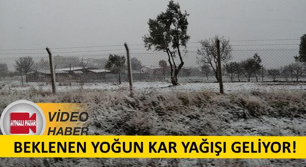 Beklenen Kar Geldi.. Ezine - Gülpınar'da Yoğun Kar Yağışı..