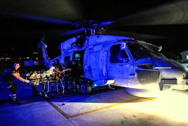 Askeri Helikopter Hastaneye Yetiştirdi..