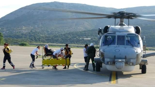 Hasta Vatandaşı Askeri Helikopter Hastaneye Yetiştirdi