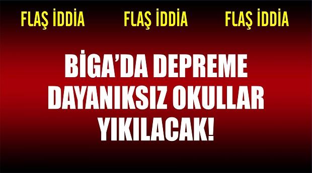 Biga'da 9 Okul 10 Gün İçerisinde Boşaltılacak İddiası!