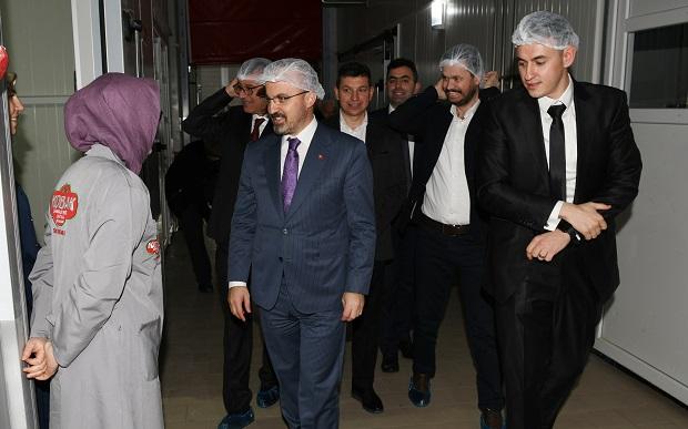 TKDK Destekli Fabrikanın Açılışını Turan Yaptı