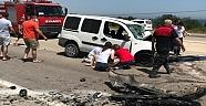 İki Aracın Çarpıştığı Kazada Sürücüler Öldü..