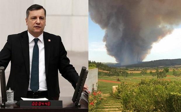 """Özgür Ceylan: """"Yangın Alanı Afet Bölgesi İlan Edilsin"""""""