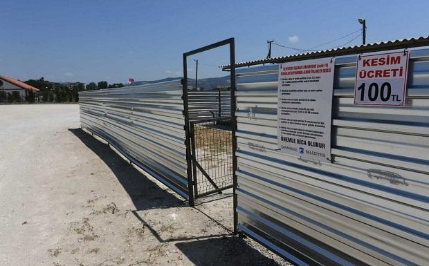 Kurban Satış ve Kesim Alanı'nda Çalışmalar Tamamlandı