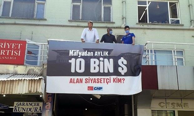 CHP Biga Örgütünden Yeni Pankart..