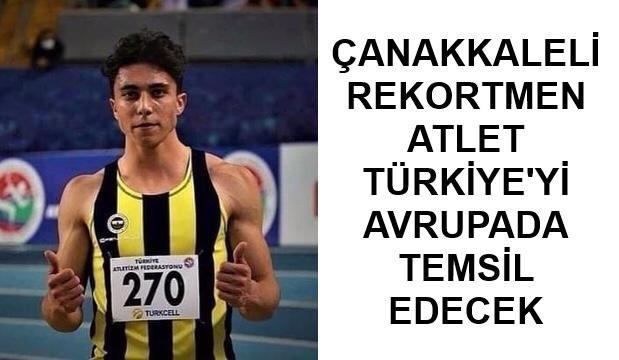 Çanakkaleli Atlet Türkiye Şampiyonu Oldu