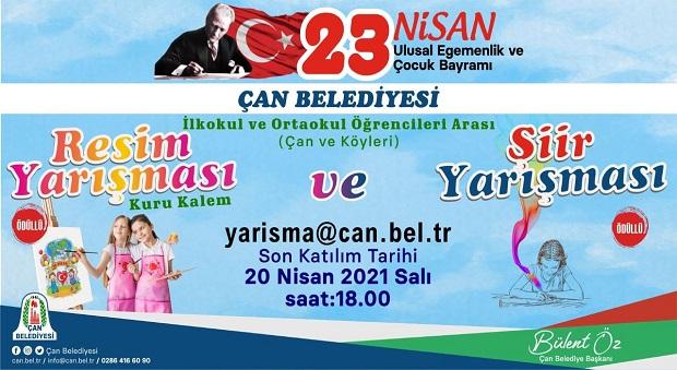"""Çan Belediyesi'nden """"23 Nisan"""" Temalı Yarışma"""