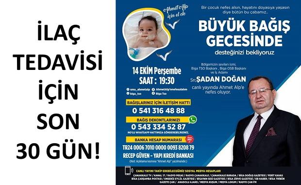 Biga TSO Başkanı Doğan, Ahmet Alp Bebek İçin Canlı Yayında