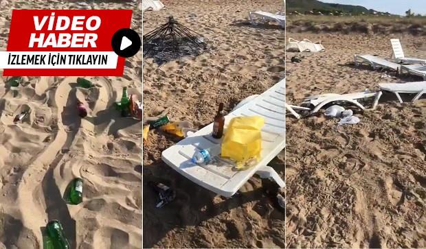 Sorumsuz Tatilciler Plajı Dağıttı!
