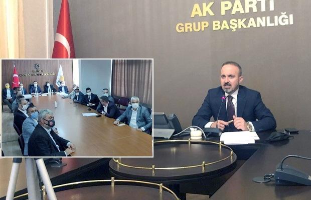 Turan İl Genel Meclis Üyeleriyle Telekonferansta Buluştu