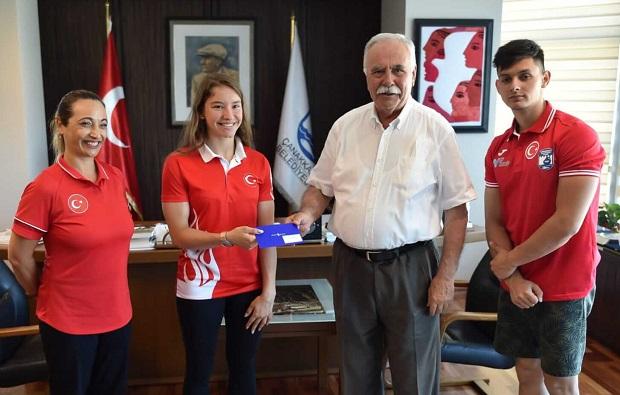 Şampiyon Sporcudan Gökhan'a Ziyaret