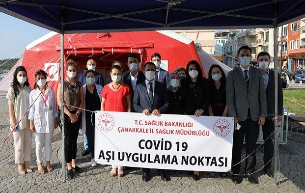 Covid-19 Aşı Uygulama Noktası İskele Meydanında..