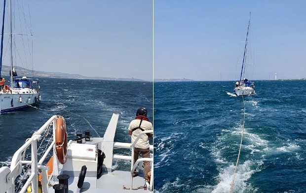 Sürüklenen Yelkenlideki 8 Kişi Kurtarıldı..