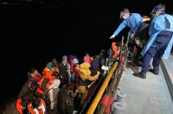 56 Kaçak Göçmen Kurtarıldı..